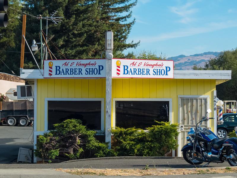 Al and Vaughn's Barber Shop: Petaluma, CA