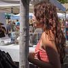 Strolling the fair, great hair.