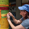 Yarn decorations on Kentucky Street