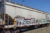 Graffiti train car: FUR X 845338