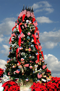 Christmas tree at the Ronald Reagan Library in Simi Valley CA