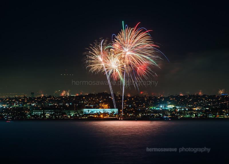 Fireworks at Seaside Lagoon