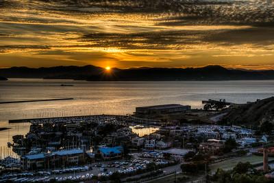 richmond-harbor-sunset