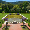 cherubim supporting fountains & algae pool at Filoli