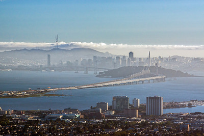 hazy San Francisco from Berkeley Hills