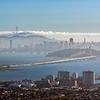 hazy San Francisco from Berkeley Hills