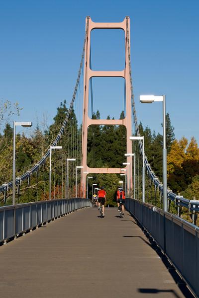 Mini-Golden Gate bridge at Sac State