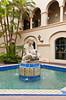 A decorative water fountain in Balboa Park, San Diego, California, USA.