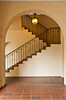 Stairs in a building in Balboa Park, San Diego, California, USA.