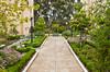Garden path in Balboa Park, San Diego, California, USA.