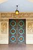 A decorative doorway in a building in Balboa Park, San Diego, California, USA.