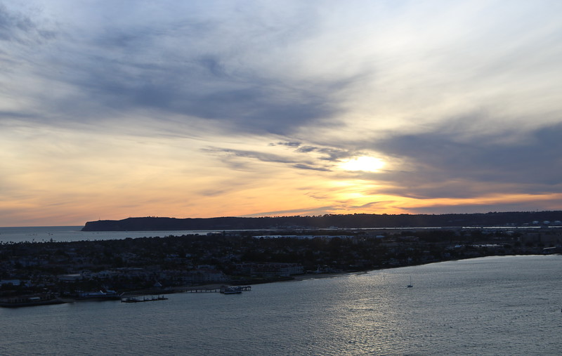 View of Coronado Island at Dusk