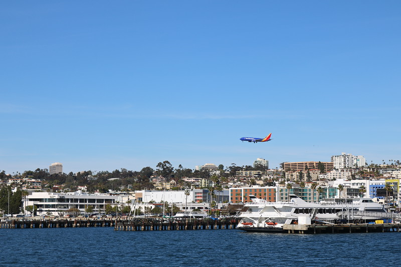 Southwest Jet Approaches the Airport to Land