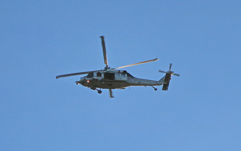Helicopter over the Bay