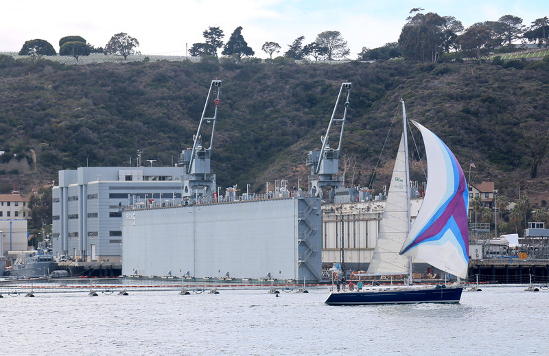 Sailboat Cruises by the Ship Repair Facility