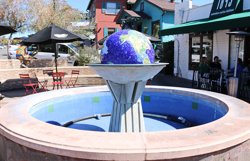 Empty Globe Fountain
