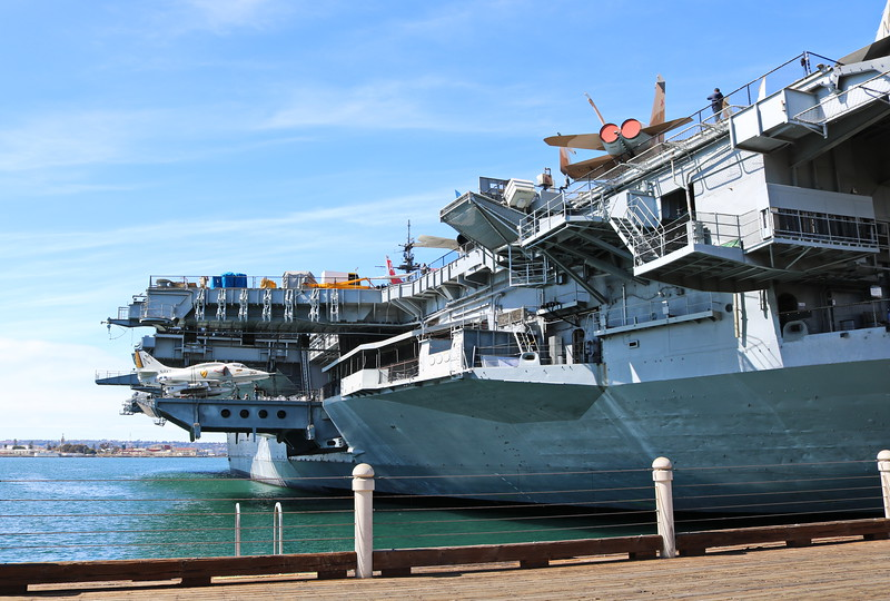 Side View of USS Midway