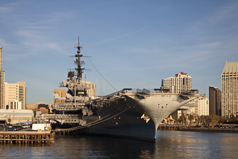 USS Midway in Port