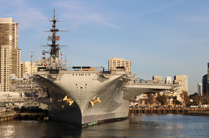 Front View of the USS Midway