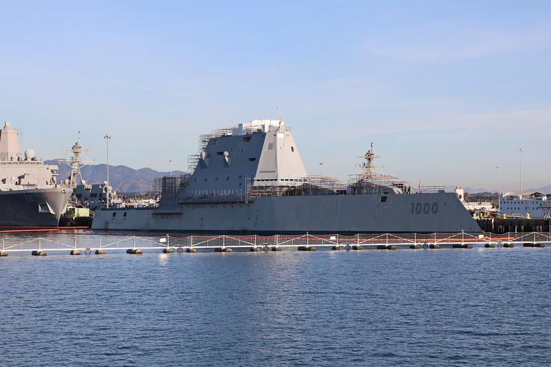 Navy Ship in Port