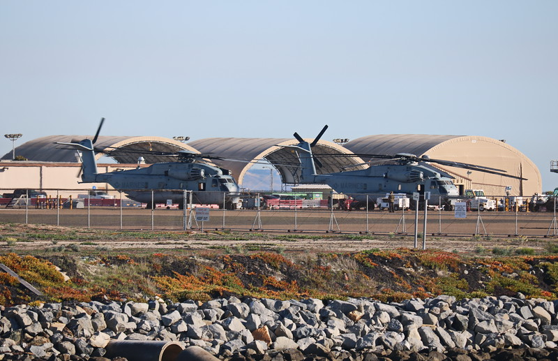 Helicopters and Hangars