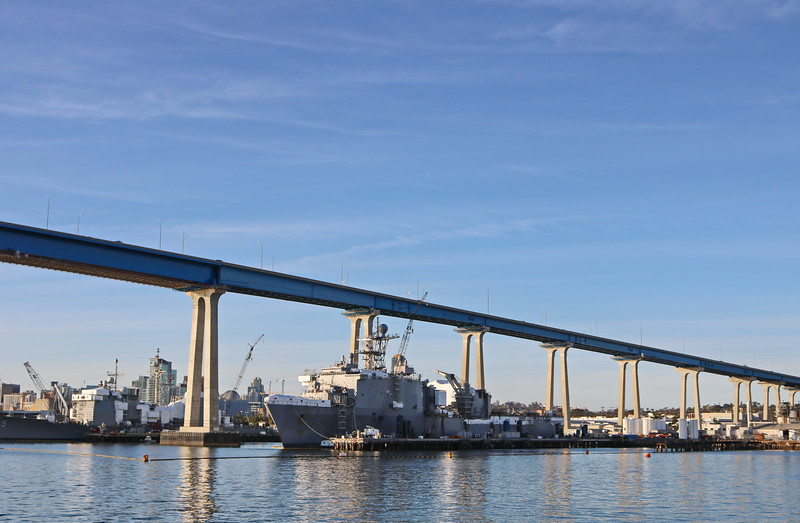 Naval Shipyard at the Coronado Bridge