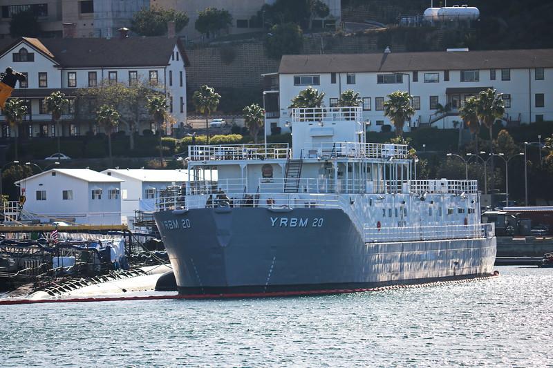 Navy Ship at the Submarine Maintenance Area