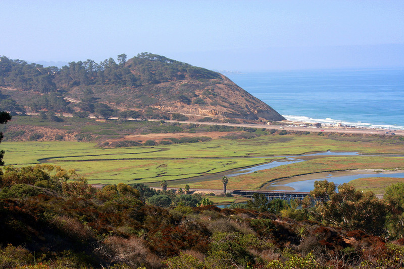 Del Mar, Torrey Pines Reserve, looking towards the Torrey Pines State Park
