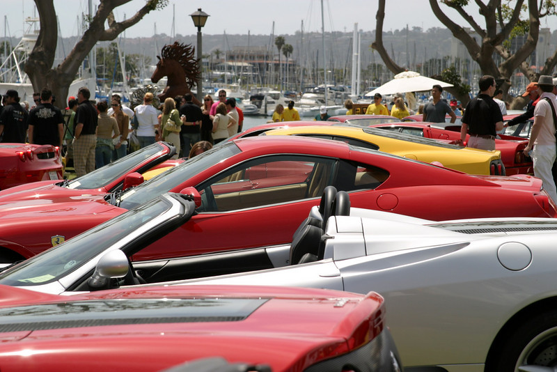 Ferrari at Spanish Landing, Car Show, San Diego, California