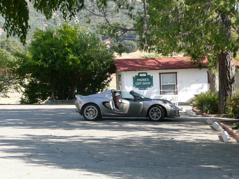 Santa Ysabel Mission, with the Lotus Elise