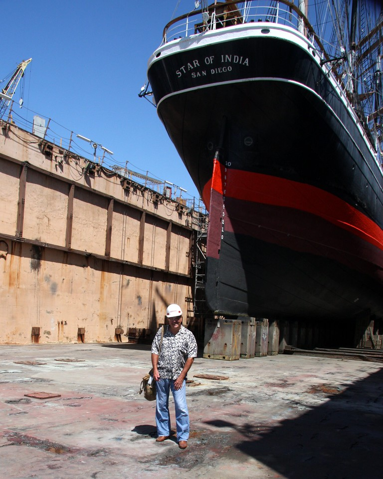 Star of India at BAE Systems Drydock and yours truly.