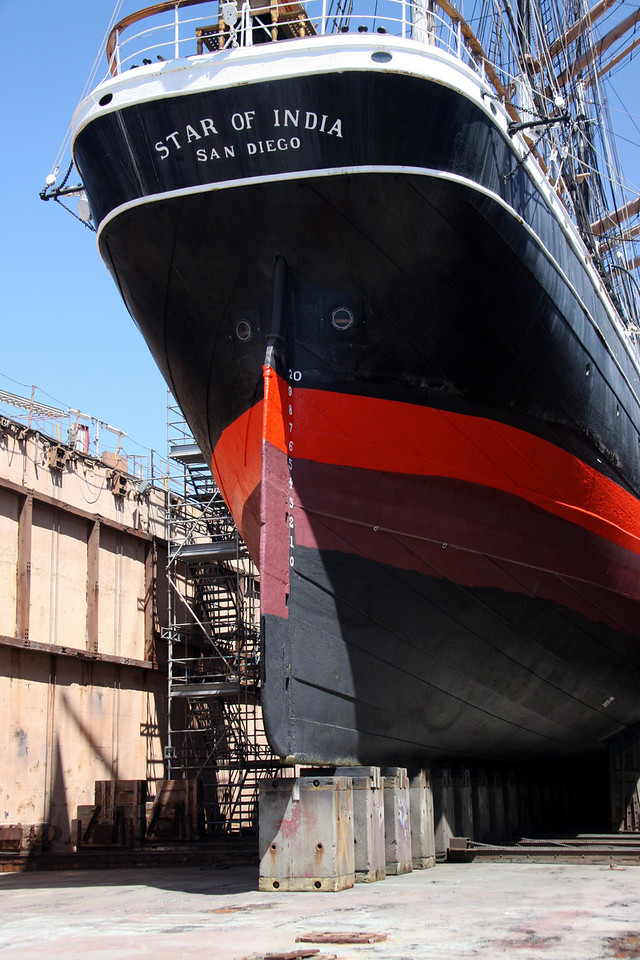 Star of India at BAE Systems Drydock
