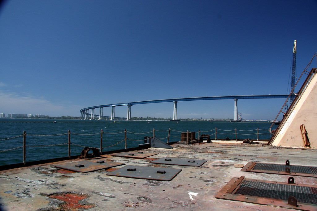 Coronado bridge from back of the drydock