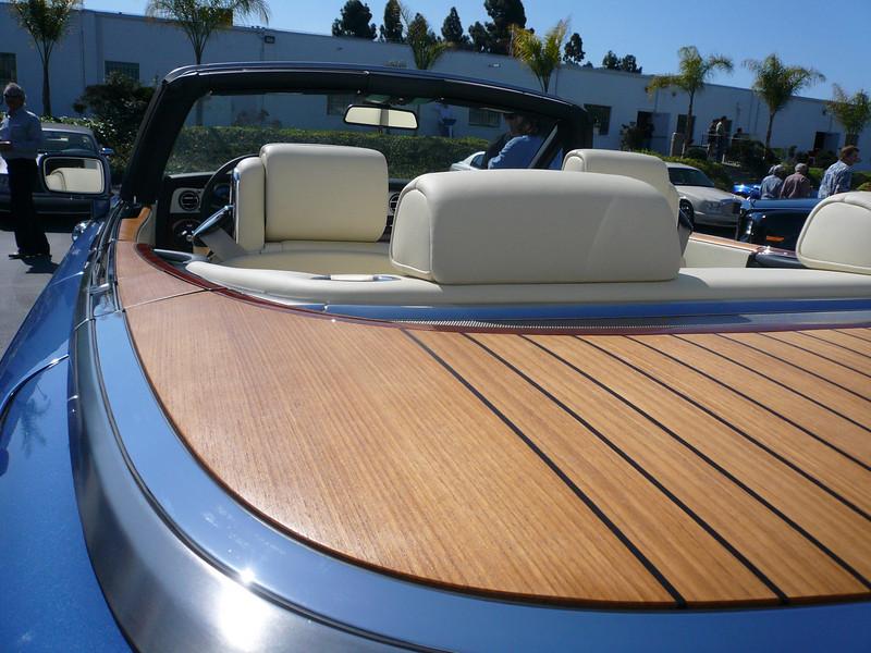 a classic boat tail design style Symbolic Car Show, San Diego California