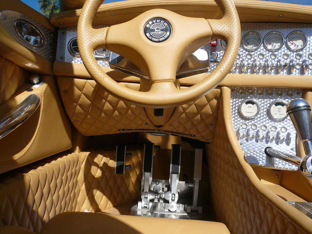 Spyker C8 Spyder, a beautiful machined pedal set Symbolic Car Show, San Diego California