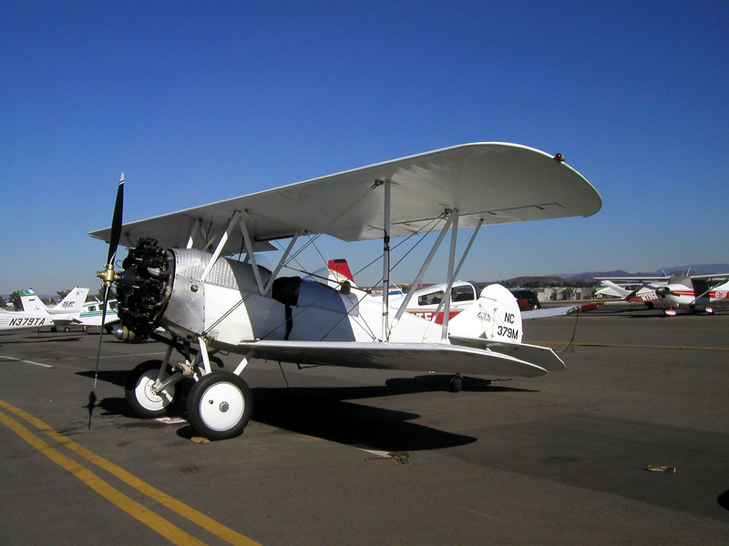 1930s TravelAir Biplane flight around San Diego, Palomar Airport, before the new terminal, I miss the old place...