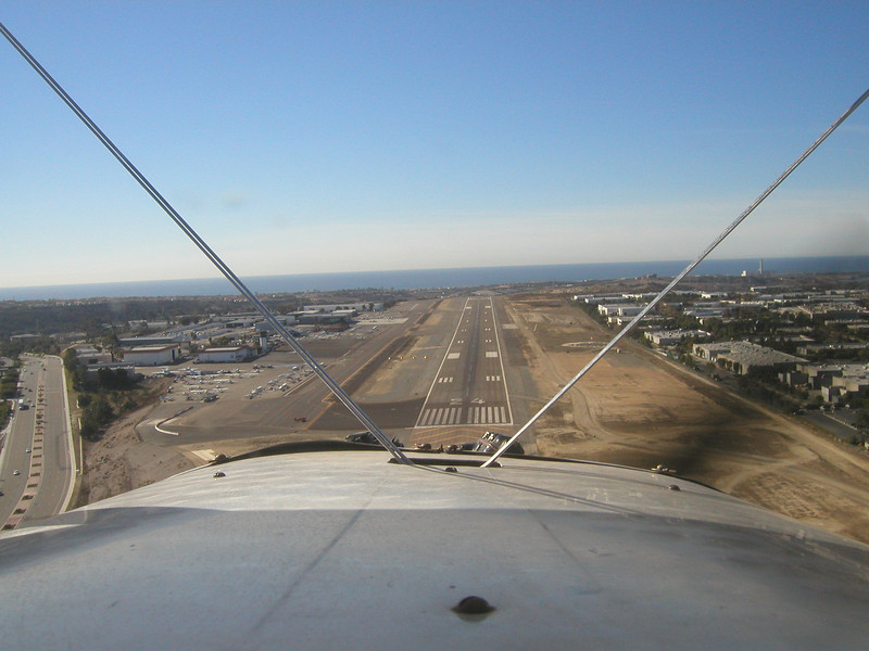Palomar Airport, approach, 1930 TravelAir Biplane flight around San Diego