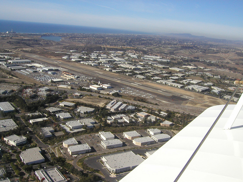 Palomar Airport, 1930 TravelAir Biplane flight around San Diego,