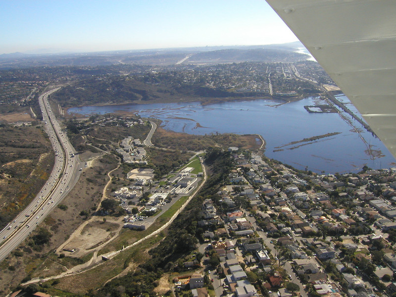 Cardiff, 1930 TravelAir Biplane flight around San Diego,