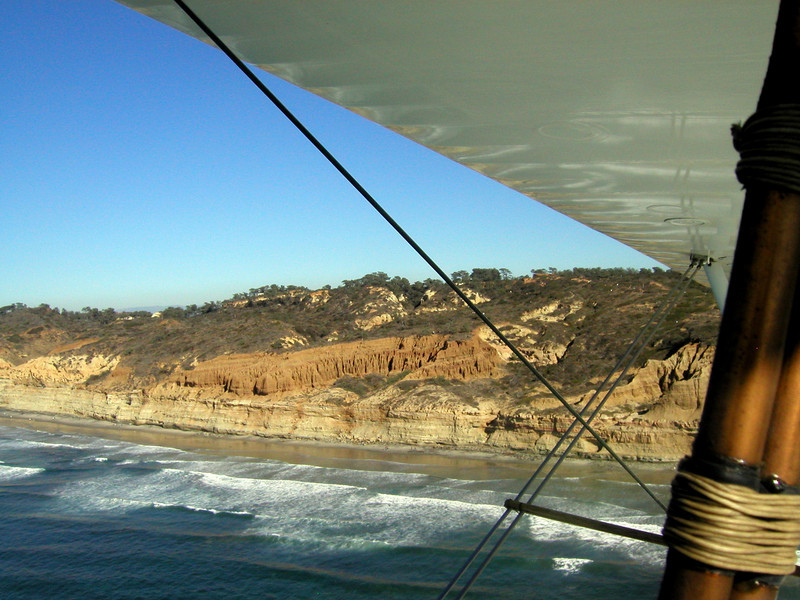 Black's Beach, La Jolla, 1930 TravelAir Biplane flight around San Diego, San Diego , California