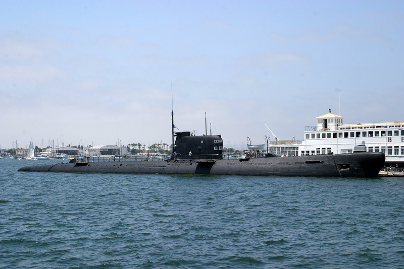 Old Soviet Sub, docked nearby. CVB-41