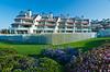 A modern condominium complex on Coronado Island, California, USA.