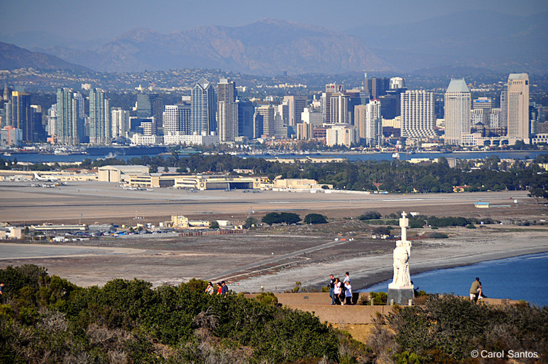 San Diego with Cabrillo National Monument in foreground