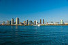 The San Diego skyline from Coronado Island, California, USA.
