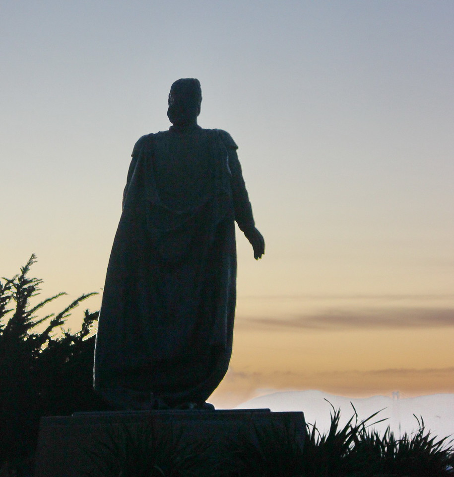 Statue of Christopher Columbus Looking towards the Sea
