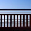 Marin County through the Golden Gate Bridge Guard Rail
