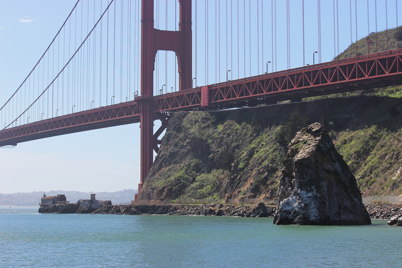 Golden Gate Bridge and Cormorant Rock