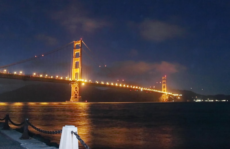 Night Lights on the Golden Gate Bridge