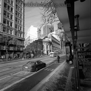 Market Street view of Wells Fargo Bank, December 31, 2010.