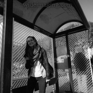 Powel Street bus stop, Little Italy, December 30, 2010